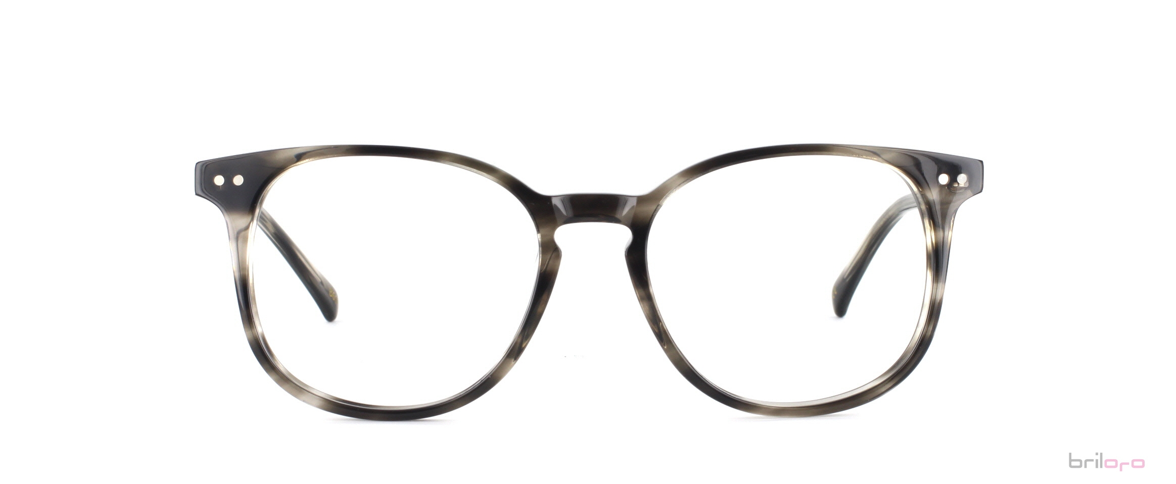 Allesandro Striped Gainsboro Brille für Herbsttypen