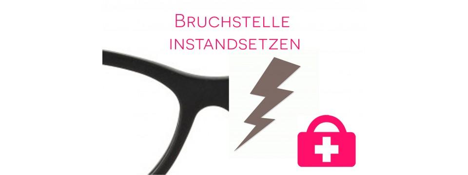 Bruchstelle instand setzen - Kunststoffbrille