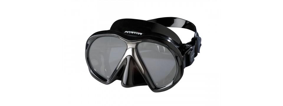 Schicke Atomic Aquatics SubFrame Black/Black Taucherbrille fr Brillenträger mit Sehstärken