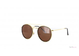 braune runde Sonnenbrille