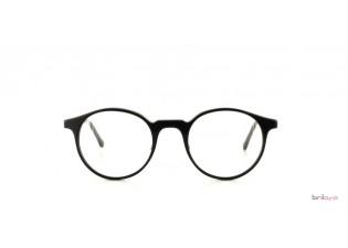 Mod.50 Col.4 schwarze Panto Brille Frontansicht