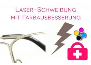 Laserschweißung mit Farbausbesserung - Metallbrille