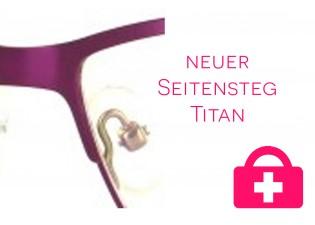 neuer Nasensteg -  Titanbrille