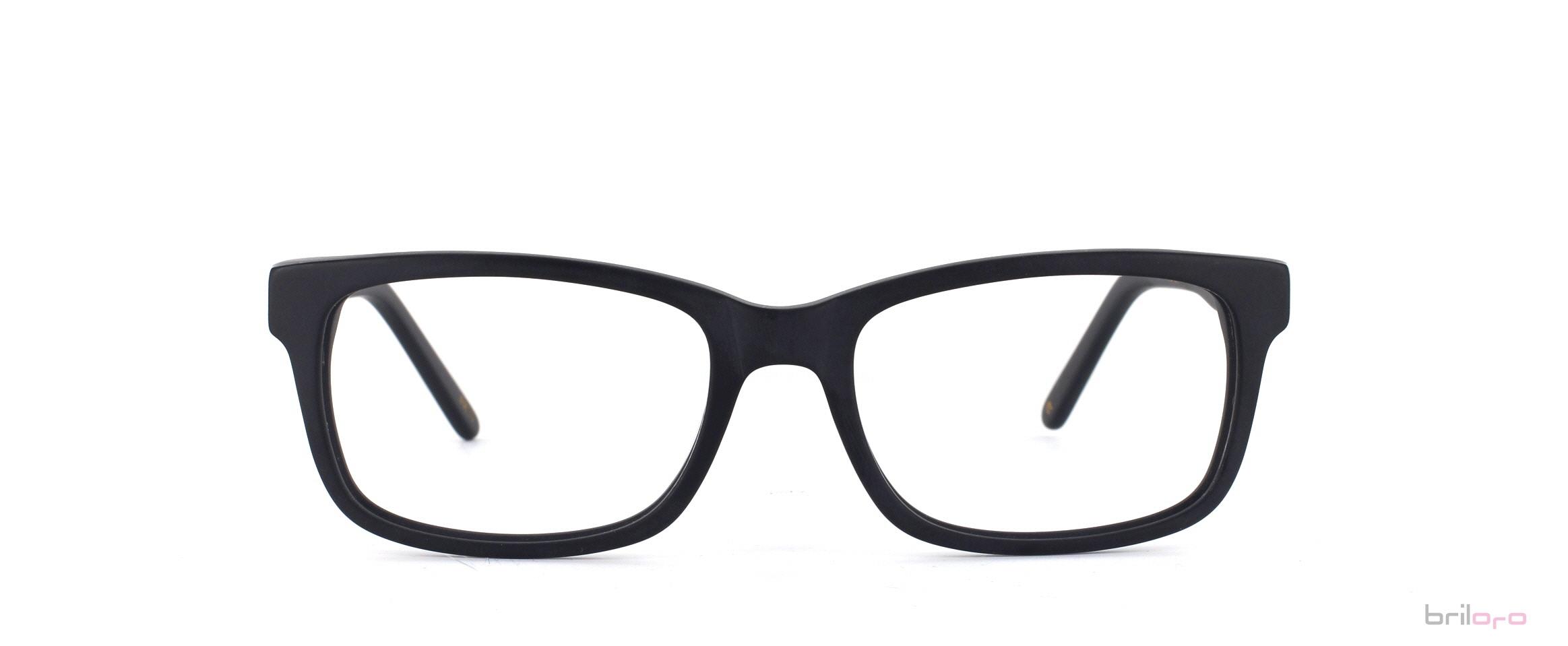 Gillian Raw jet black Brille für ovale Gesichter exklusiv bei Briloro kaufen!