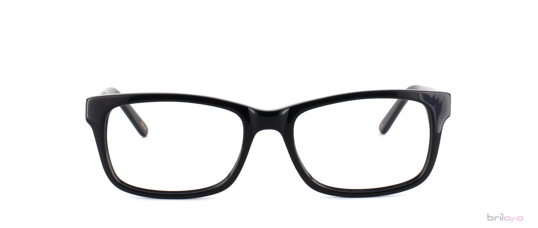 Brille LeRoy Jet Black für ovale Gesichter exklusiv bei Briloro kaufen!