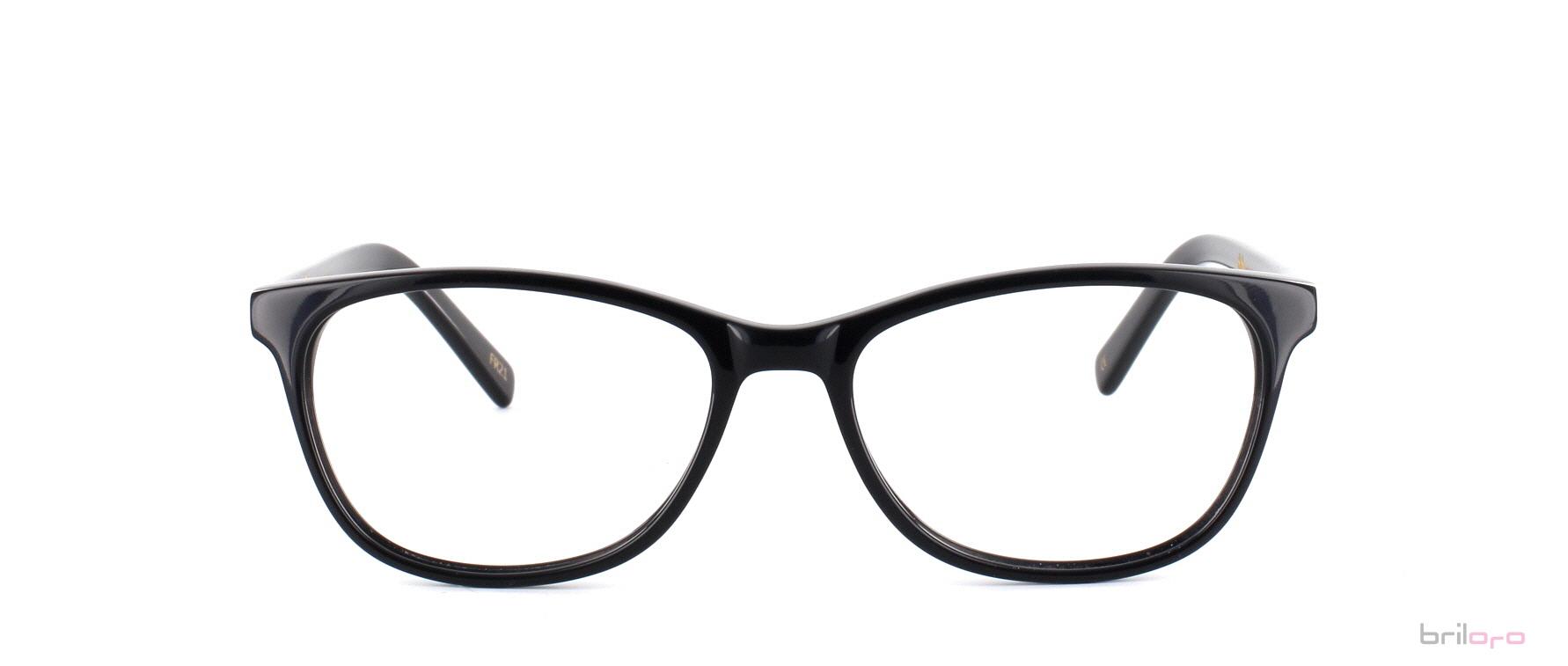 Moderne Pearl Jet Black Brille für herzförmiges Gesicht