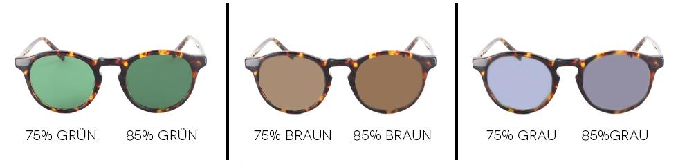 Sonnenbrillen: Verlaufstönungen, selbsttönende Gläser