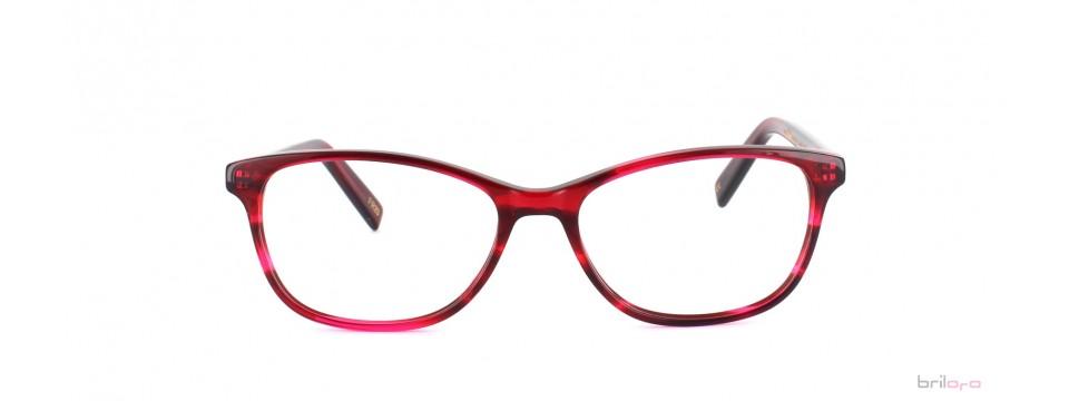 Rot schimmernde Pearl Striped Indian Red Brille für Frühlingstypen von Jack & Francis