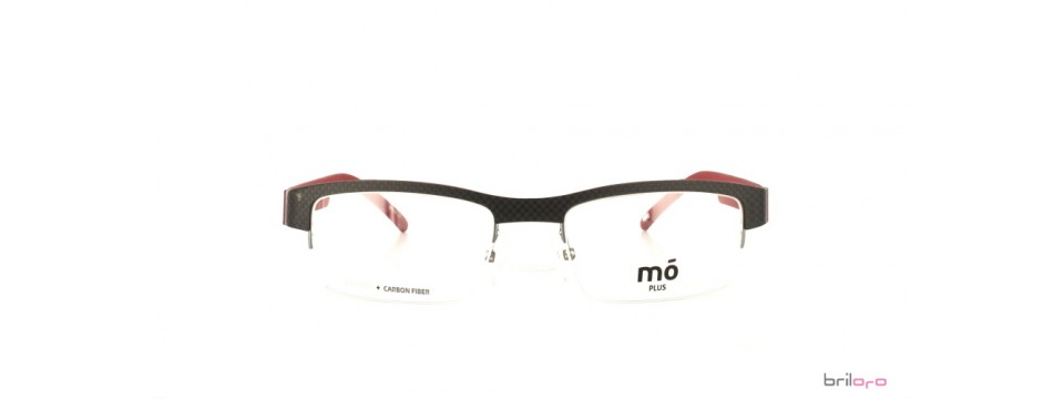 Moderne halbrand PLUS grey/red Brille von MO Eyewear kaufen.